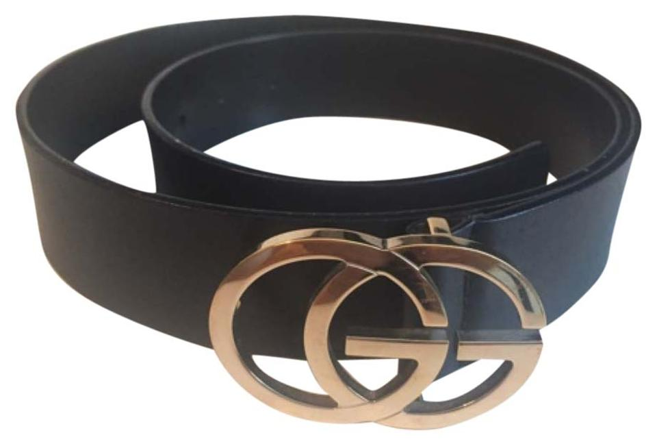 88ba7e402892 Gucci Gucci GG Running Light Gold Tone Buckle Black Leather Belt - Style N.  73919 ...