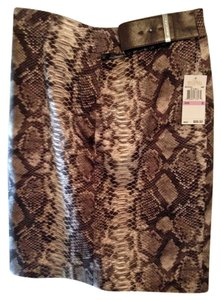 Michael Kors Never Worn Still Has Tag Skirt brown snake print