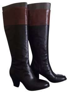 Caressa Black and Brown Boots