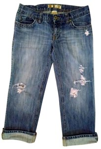 Roxy Capris Size 7/8 Distressed Low Rise Capri/Cropped Denim-Distressed