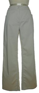 Eileen Fisher Cotton Tencel Straight Pants Cream