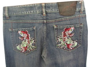 Ed Hardy Straight Leg Jeans-Distressed
