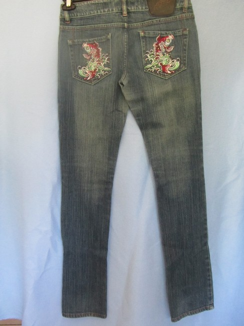Ed Hardy Straight Leg Jeans-Distressed Image 3