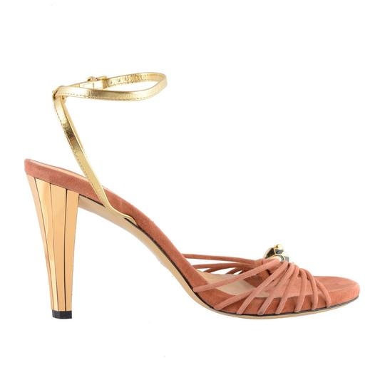 Gucci Pink / Gold Sandals