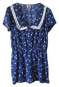 Free People short dress Blue Peter Pan Collar Floral on Tradesy