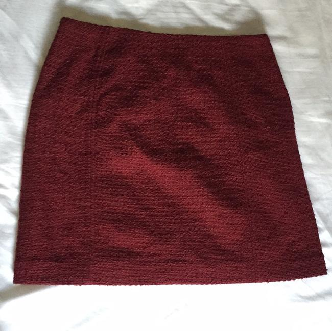 Ann Taylor LOFT Mini Skirt Maroon, red