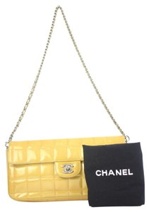 Chanel Patent Chocolate Bar Classic Flap CCTLM7