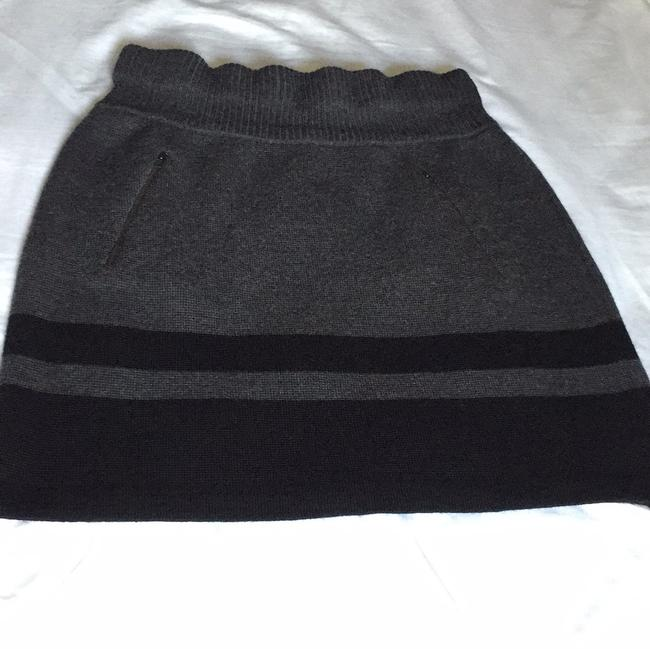Ann Taylor LOFT Mini Skirt Grey, black