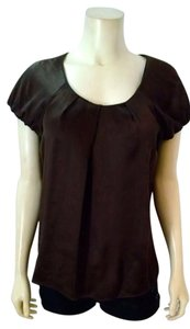 Ann Taylor LOFT Size Small Silk Top Brown