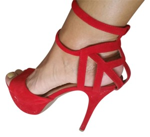 Liliana Red suede Sandals