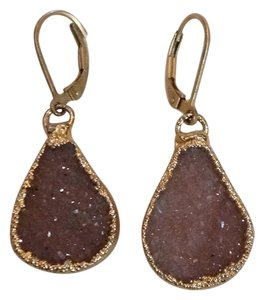 Nina Nguyen Nina Nguyen Bella Brown Druzy Earrings 22K gold dipped silver