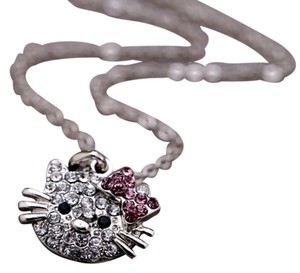Hello Kitty Full Crystal Hello Kitty Charm Necklace