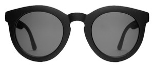CRAP Eyewear Crap Eyewear The T.V. Eye Sunglasses Flat Black w/Grey CR-39 Lenses