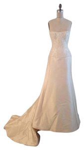 Edgardo Bonilla 3150x Ivory Silk Mikado Lace Slim Strapless Classic Edgardo Bonilla Wedding Dress