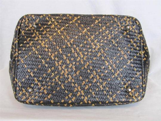 Talbots Woven Handbag. Satchel in Brown