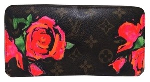Louis Vuitton Roses Zippy Stephen Sprouse Wallet ALVLM1 B#167011