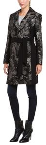 Diane von Furstenberg Dvf Black Prints Unique Trench Coat