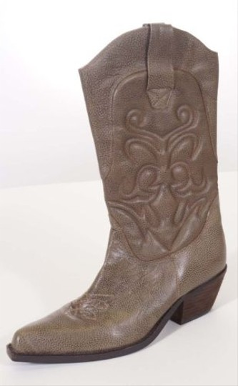 Nine West Madeira Womens Leather Ern Cowboy Brown Boots