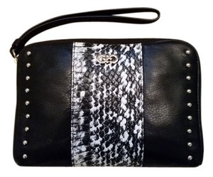Cole Haan Wristlet in Black and Ivory