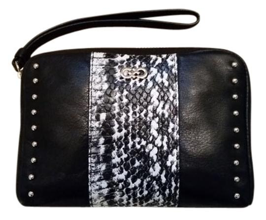 Cole Haan Pouch Wristlet in Black and Ivory