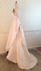 Galina 1153 Lace Silk Shantung Raw Silk Wedding Dress