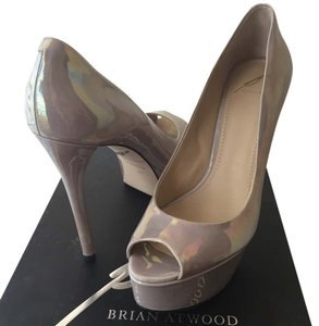 Brian Atwood Iridescent Gray Platforms