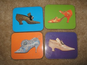 Ladies Fashion Shoes Coasters Set Of 4 New!