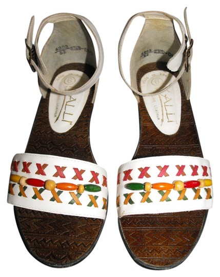KALLI White/Colored Beads Sandals