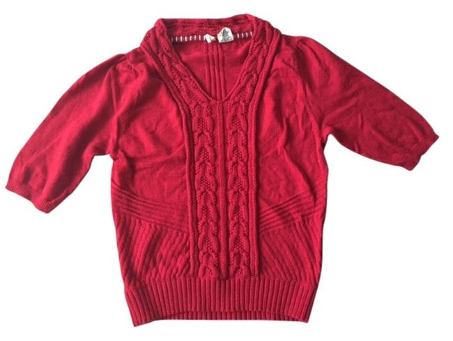 Preload https://item5.tradesy.com/images/anthropologie-red-fall-winter-knit-sweaterpullover-size-0-xs-4663099-0-0.jpg?width=400&height=650