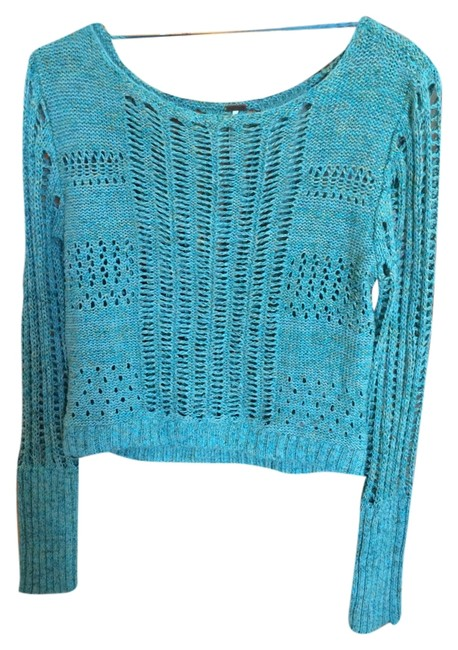 Preload https://item3.tradesy.com/images/free-people-turquoise-with-subtle-yellow-and-green-threading-sweaterpullover-size-4-s-4663237-0-0.jpg?width=400&height=650