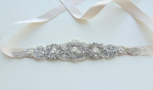 Victorian Bridal Brooch Art Deco Bustier Wedding Dress Sash Jewelry Crystal Belt