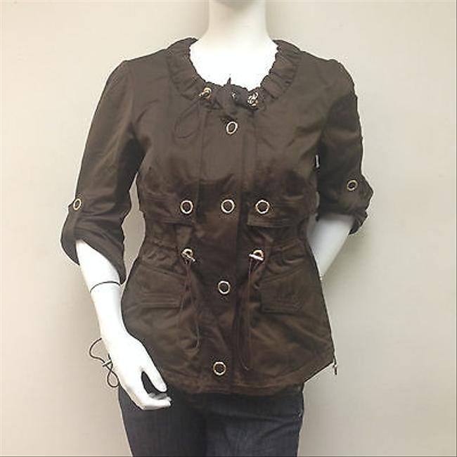 CoSTUME NATIONAL Costume National Brown Jacket Cotton Blend Italy With Tags
