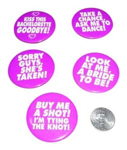Purple Bachelorette Party Buttons- Set Of 5