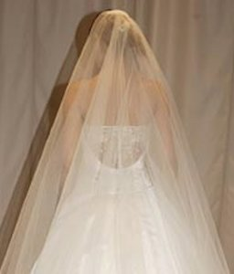 Reem Acra 9801 Sheer Low Back Satin Beaded Ballgown Sz 8/10 Wedding Dress