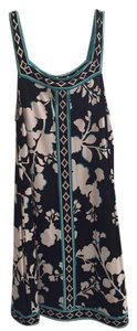 BCBGMAXAZRIA Floral Blue Black White Dress