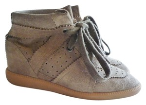 Isabel Marant Sneaker Size 7 Taupe Wedges