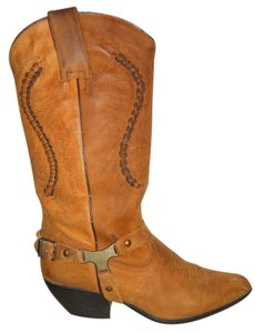 Maine Woods Leather Western Maine Woods tan Boots