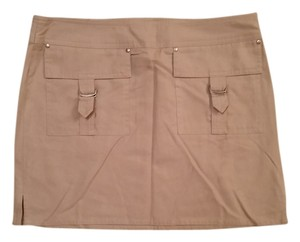 Express Grunge Flash Sale 90s Punk Rocker Mini Skirt Khaki