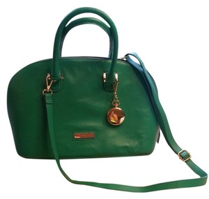 Joy & IMAN Genuine Leather Handbag Satchel in Green