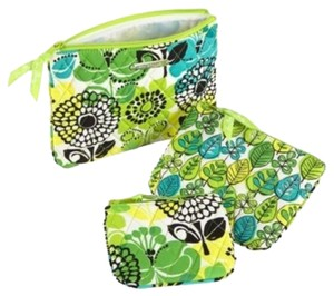 Vera Bradley Vera Bradley Cosmetic Trio NWT Lime's Up