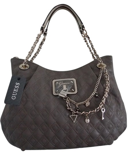 Preload https://item3.tradesy.com/images/guess-vg480809-taupe-gray-vegan-faux-leather-satchel-4664572-0-0.jpg?width=440&height=440