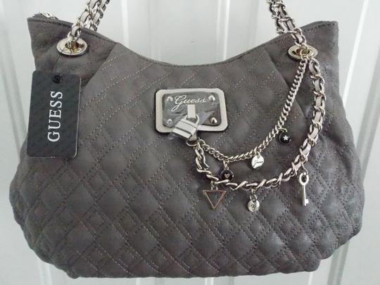 Guess Satchel in Taupe Gray