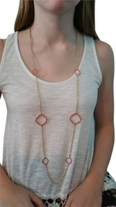 Francesca's Coral and Gold Necklace