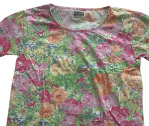Weekday floral t-shirt T Shirt Pink green blue orange