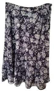 Express Skirt black/white floral