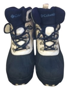 Columbia White and Navy Boots