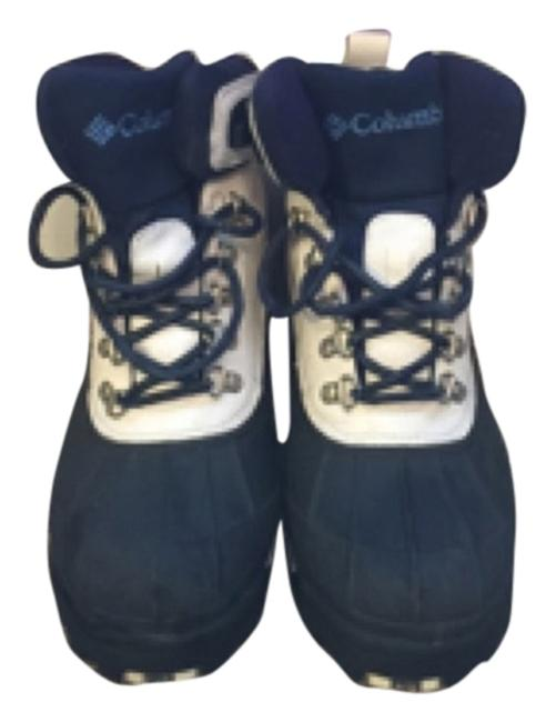 Item - White and Navy Boots/Booties Size US 10 Regular (M, B)