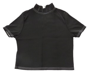 Dominus D by Lise D'Aristide Classic Mock Turtleneck Cropped Length Fall Winter Layering Sweater