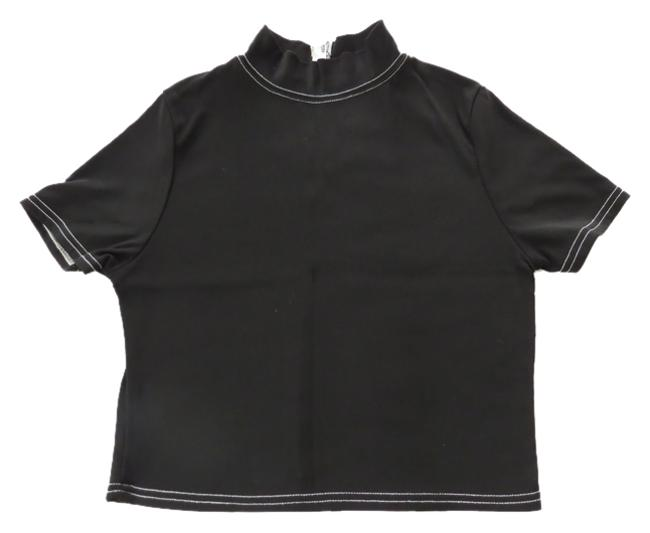 Dominus D by Lise D'Aristide Classic Mock Turtleneck Cropped Length Fall Layering Sweater