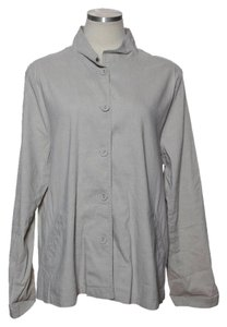 Eileen Fisher Linen Blend Beige Jacket